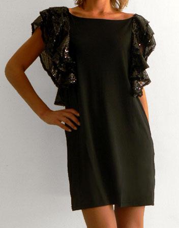 Robe a sequin noir