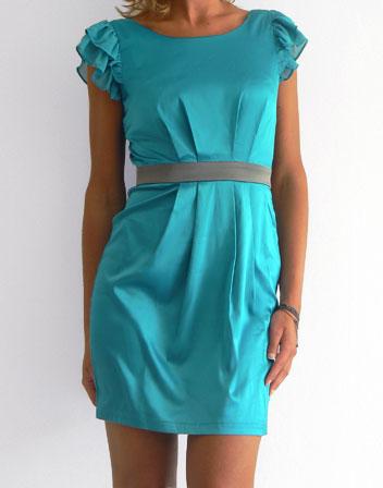 Robe courte bleue turquoise