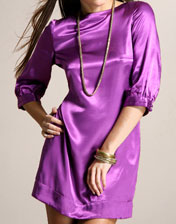 robe de soiree violet en location