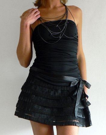 Robe bustier forme tutu noire