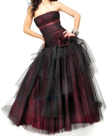 robe de bal bustier tulle noire jovani descriptif magnifique robe de ...