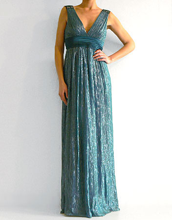 robe longue bleu canard la mode des robes de france. Black Bedroom Furniture Sets. Home Design Ideas