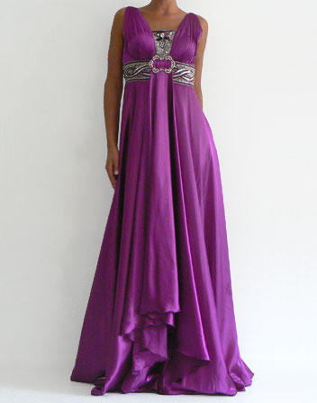 Location Robe princesse violet satiné