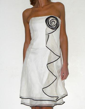 Robe de soiree blanc mi longue