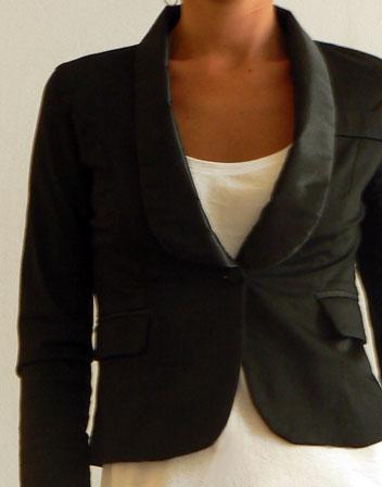 Petite veste noir courte